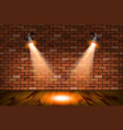 old retro two lamp on grunge brick wall vector image