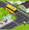pensioner public transport isometric vector image vector image