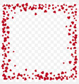 red paper heart frame background valentines day vector image vector image