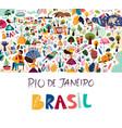 rio de janeiro brazil vector image vector image
