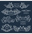 set vintage victorian ornaments wedding design vector image
