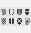 shield symbol icon emblem security design graphic vector image vector image