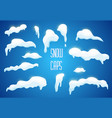 snow ice caps snowballs snowdrifts set vector image vector image