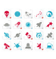 stylized astronomy and space icons vector image vector image