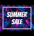 summer sale poster night tropic background vector image vector image
