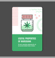 useful properties of marijuana vertical banner vector image