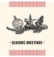Vintage Christmas greeting card Christmas card vector image