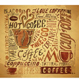 Vintage coffee typography background vector image vector image