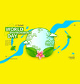 world environment day poster design with earth vector image