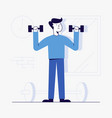 young man workout at gym vector image