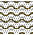 zigzag wave lines with gold glitter seamless vector image vector image