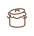 saucepan and dough line sign symbol for bakery vector image