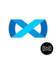 infinity ribbon style logo vector image