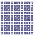 100 network icons set grunge sapphire vector image vector image