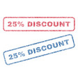 25 percent discount textile stamps vector image vector image