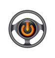 3d logo of chrome power button turn off icon vector image