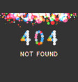404 error page not found phrase vector image