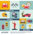 Auto Sport Icon Flat vector image vector image