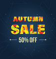 autumn super sale banner with autumn leaves vector image vector image