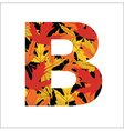 B Letter vector image vector image