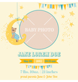 Baby Arrival Card - Sleeping Bear Theme vector image vector image