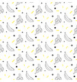banana sketch line seamless pattern black vector image vector image