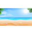 beach and tropical sea seaside view vector image