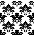 Black and white seamless damask pattern vector image vector image
