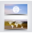 Blurred landscape background card Travel concept vector image