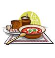 borscht vector image vector image