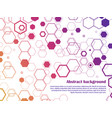 bright honeycomb abstract background template vector image vector image