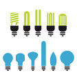bulb silhouette vector image vector image