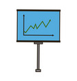 business board growing chart presentation icon vector image