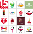 collection of logos of restaurants and cafe vector image