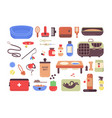 collection of pet shop goods for cats and dogs vector image vector image