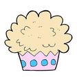 comic cartoon cup cake vector image vector image
