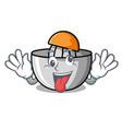 crazy juicer mascot cartoon style vector image vector image
