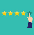 customer reviews rating classification concept vector image