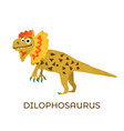 cute dinosaur dilophosaurus cartoon drawn for tee vector image