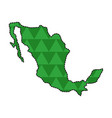 dotted line map of mexico vector image vector image