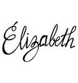 Elizabeth name lettering vector image vector image