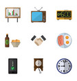 flat icon life set of watch whiteboard cellphone vector image vector image