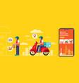 food delivery banner design flat design online vector image