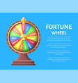 fortune wheel poster place for text full length vector image