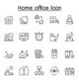 freelance and work at home icons set collection vector image vector image