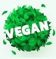 fresh leaves background vegan concept healthy vector image vector image