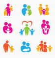 happy family icons symbols collection vector image