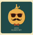 hipster halloween vector image
