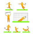 human soccer and football silhouettes vector image vector image