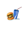 junk food icon food vector image vector image